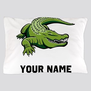 Green Alligator Pillow Case