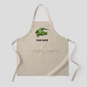 Green Alligator Apron