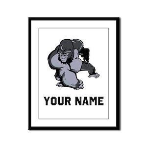 Big Gorilla Framed Panel Print