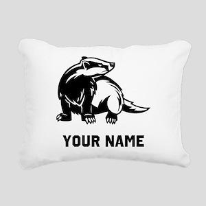 Honey Badger Rectangular Canvas Pillow