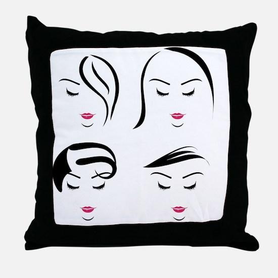 Cute Hair Throw Pillow