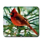 Cardinal Oil Photo Art Mousepad