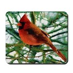 Cardinal Impasto Photo Art Mousepad
