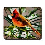 Cardinal Gothic Oil Photo Art Mousepad