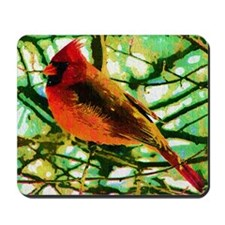 Cardinal Fauvist Oil Photo Art Mousepad