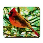 Cardinal Fauvist Oil Photo Art Mousepad