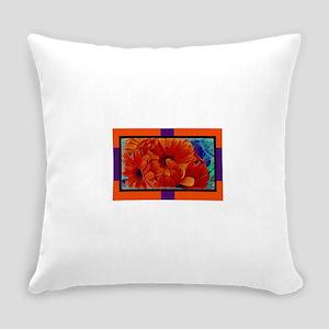Flower-Daisy-Orange Everyday Pillow