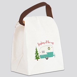 Laughing All The Way Canvas Lunch Bag
