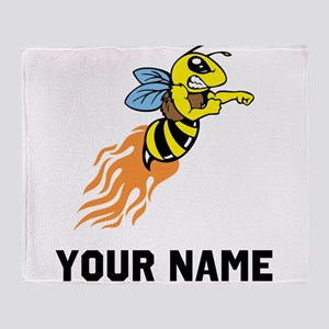 Bee Mascot Throw Blanket