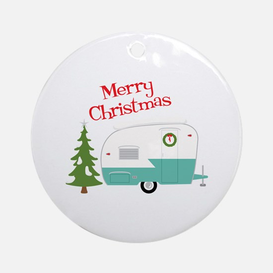 Merry Christmas Round Ornament