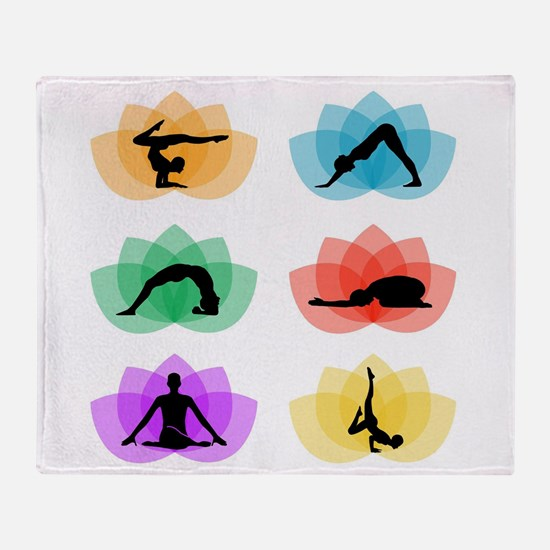 Cool Lotus massage Throw Blanket