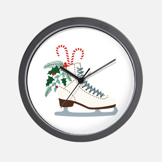 Holiday Ice Skate Wall Clock
