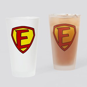 Super F Logo Costume 05 Drinking Glass