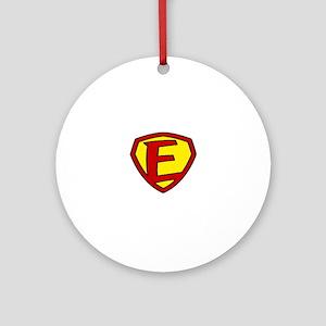 Super F Logo Costume 05 Round Ornament