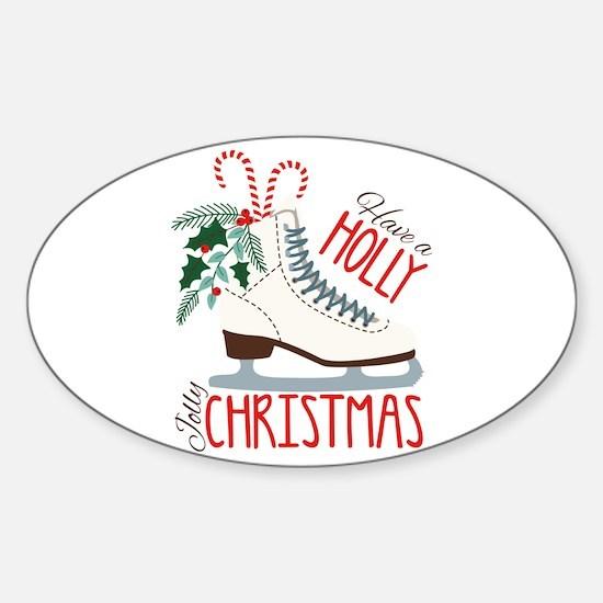 Holly Christmas Decal