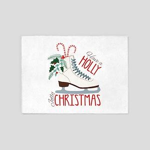 Holly Christmas 5'x7'Area Rug