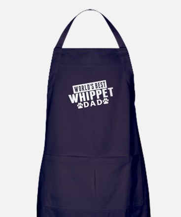 Worlds Best Whippet Dad Apron (dark)