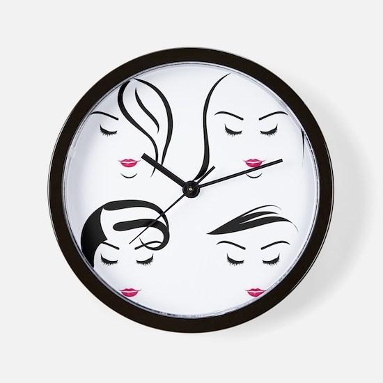 Unique Hair Wall Clock