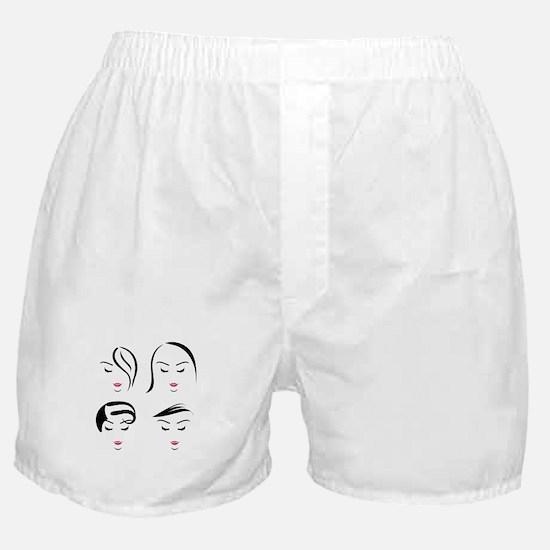 Unique Portrait woman Boxer Shorts
