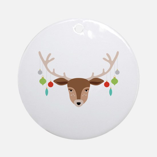 Antler Ornaments Round Ornament