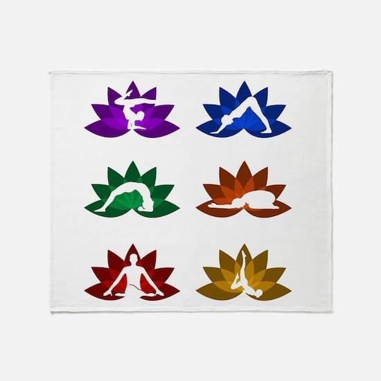 Unique Lotus massage Throw Blanket