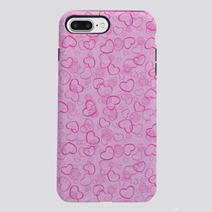 Abstract Hearts and Flo iPhone 8/7 Plus Tough Case