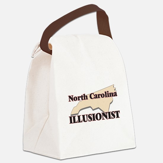 North Carolina Illusionist Canvas Lunch Bag