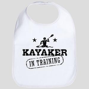 Kayaker in Training Cotton Baby Bib