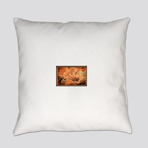 Flowers-Peach-Color Everyday Pillow