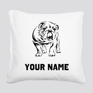 Bulldog Square Canvas Pillow