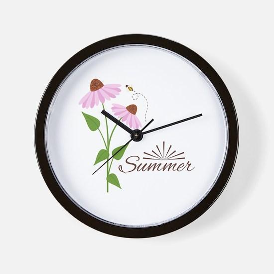 Coneflower Summer Wall Clock