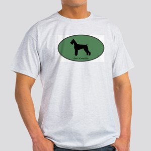 Giant Schnauzer (green) Light T-Shirt