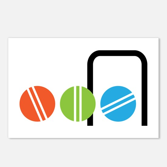 Croquet Balls Postcards (Package of 8)