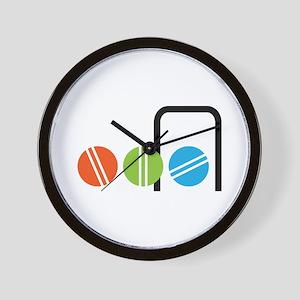 Croquet Balls Wall Clock