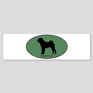 Chinese Shar Pei (green) Bumper Sticker