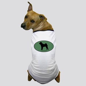Chinese Shar Pei (green) Dog T-Shirt