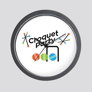 Croquet Party Wall Clock