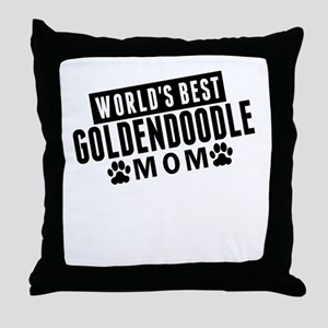 Worlds Best Goldendoodle Mom Throw Pillow