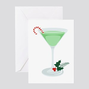 Peppermint Cocktail Greeting Cards