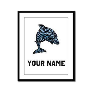 Dolphin Framed Panel Print