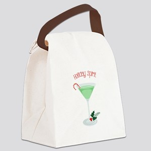 Holiday Spirit Canvas Lunch Bag