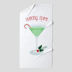 Holiday Spirit Beach Towel