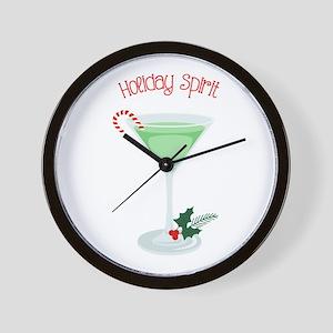 Holiday Spirit Wall Clock