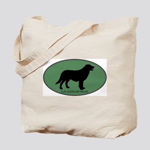 Flat Coated Retriever (green) Tote Bag