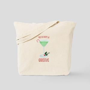 Happy At Christmas Tote Bag