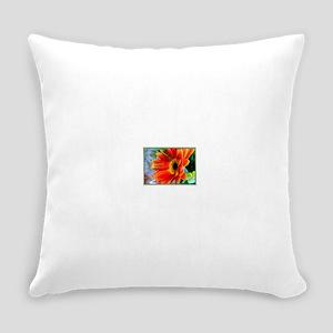 Flowers-Daisy-Orange Everyday Pillow