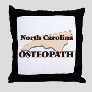 North Carolina Osteopath Throw Pillow
