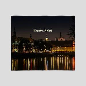 Wroclaw, Poland Throw Blanket