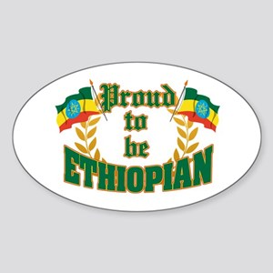 Proud to be Ethiopian Oval Sticker
