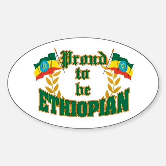 Proud to be Ethiopian Oval Decal